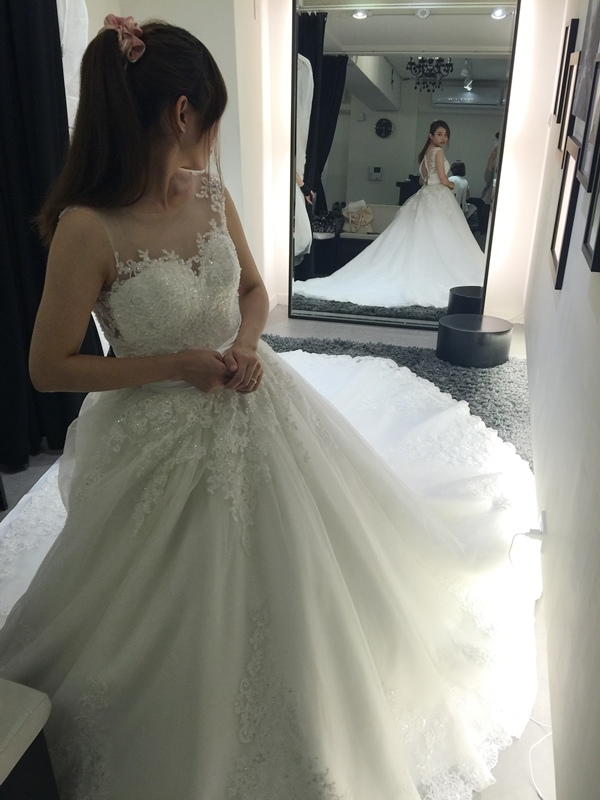 WHITE 手工婚紗試穿-白紗禮服 (76)