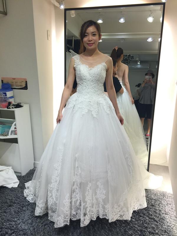 WHITE 手工婚紗試穿-白紗禮服 (82)