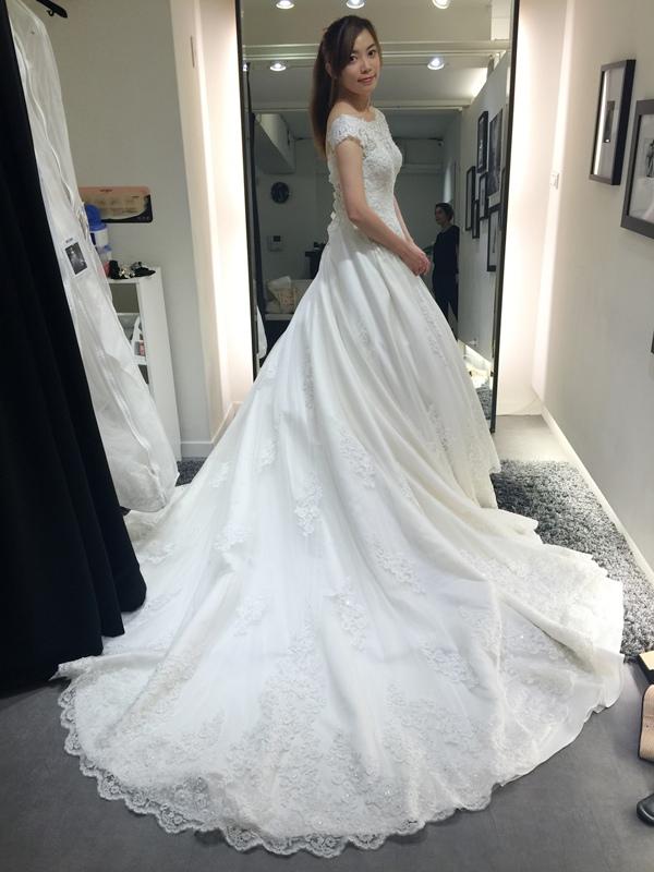 WHITE 手工婚紗試穿-白紗禮服 (86)