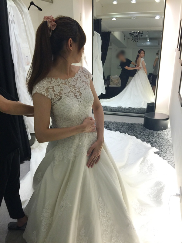 WHITE 手工婚紗試穿-白紗禮服 (88)