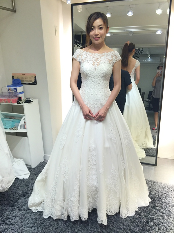 WHITE 手工婚紗試穿-白紗禮服 (87)