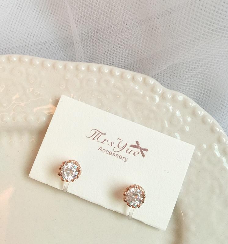 Mrs.Yue飾品屋夾式耳環-精緻小巧矽膠耳夾耳環-施華洛世奇水晶元素-無耳洞女孩飾品 (46)