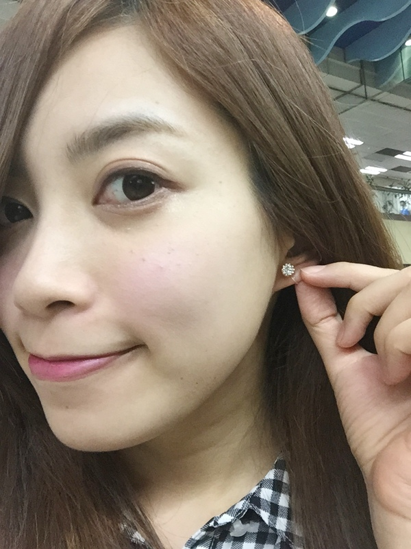 Mrs.Yue飾品屋夾式耳環-精緻小巧矽膠耳夾耳環-施華洛世奇水晶元素-無耳洞女孩飾品 (2)