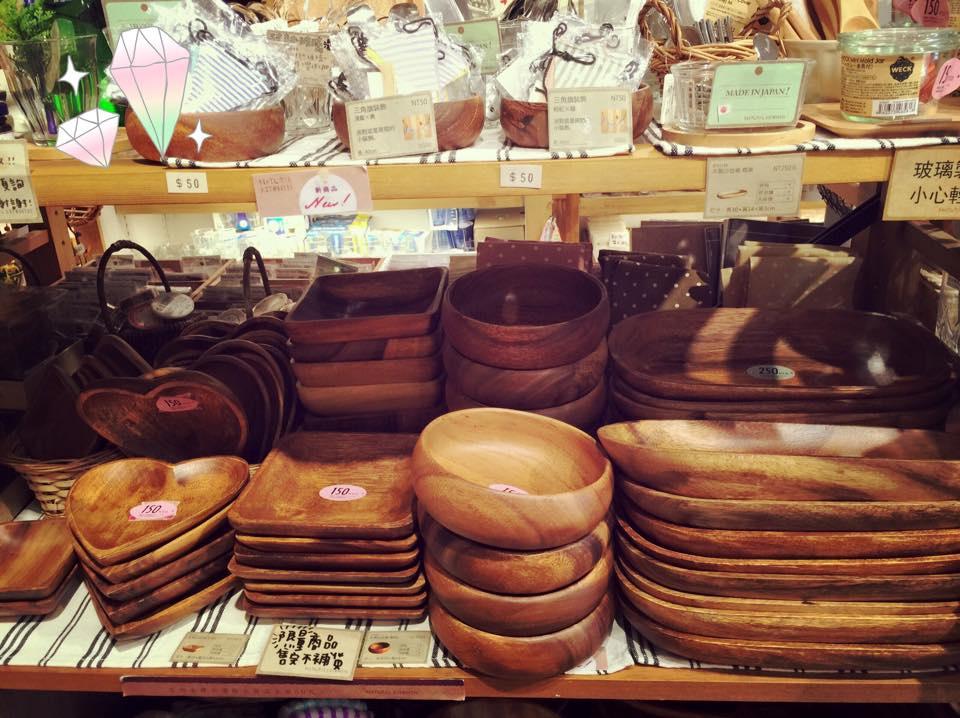 Natural Kitchen 松高店-日本雜貨愛心木盤沙拉木碗餐盤餐墊 (100)