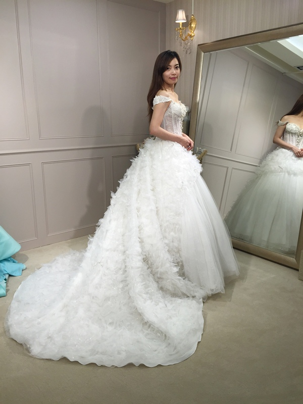 樂許Le Chic Bridal 手工婚紗 婚紗試穿 命定婚紗 Luminous Haute Couture 高級訂製 (170)