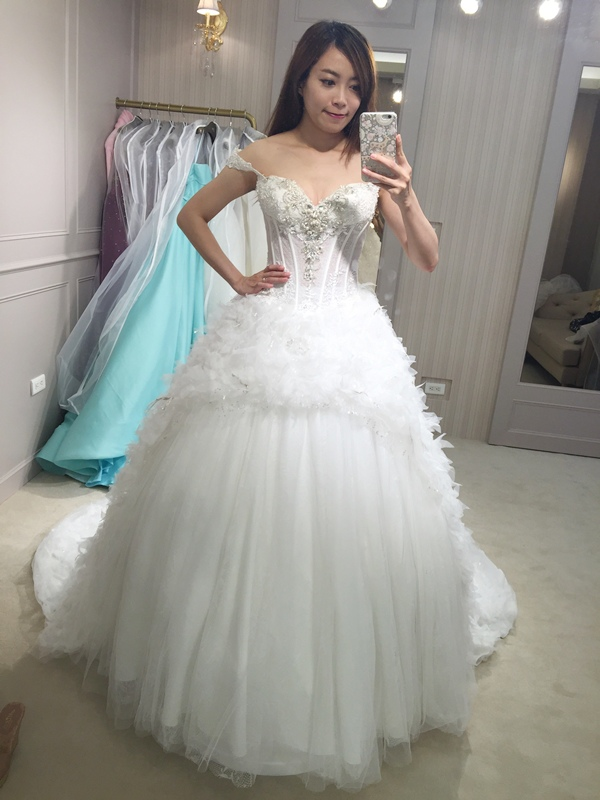 樂許Le Chic Bridal 手工婚紗 婚紗試穿 命定婚紗 Luminous Haute Couture 高級訂製 (164)
