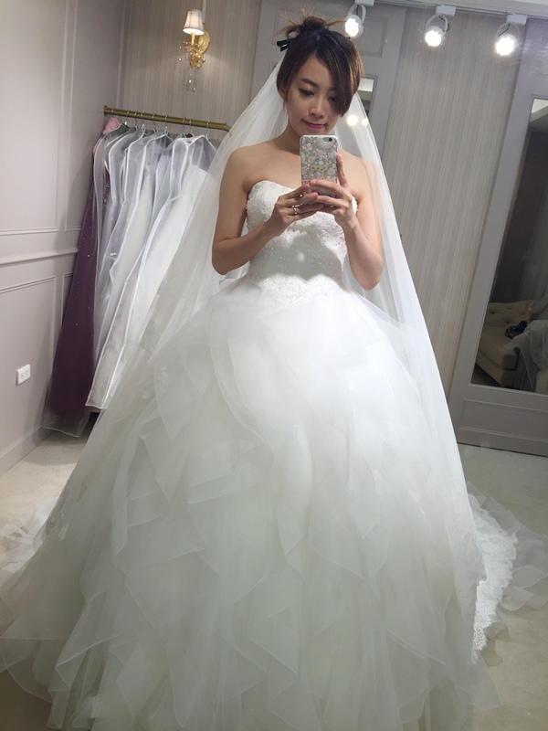 樂許Le Chic Bridal 手工婚紗 婚紗試穿 命定婚紗 Luminous Haute Couture 高級訂製 (236)