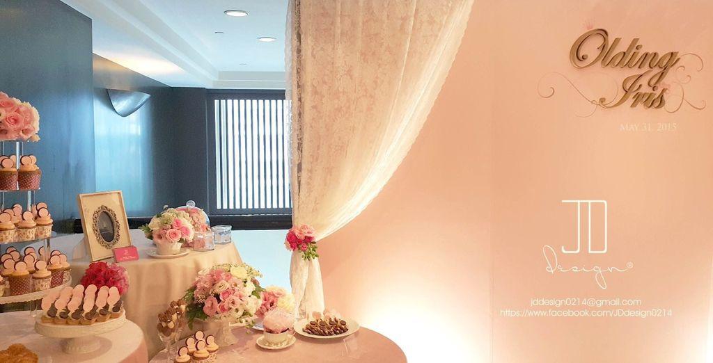 甜美氣質婚禮佈置JD Design 及甜點桌Candy Bar 好味生活Funeats  (41)