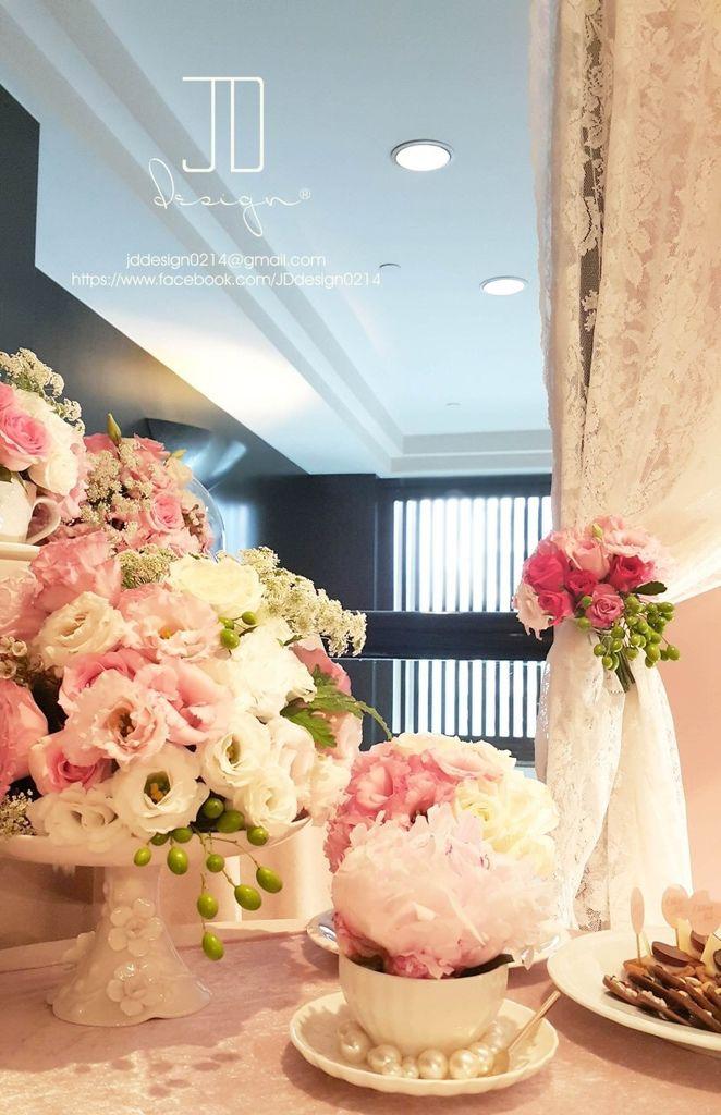 甜美氣質婚禮佈置JD Design 及甜點桌Candy Bar 好味生活Funeats  (48)