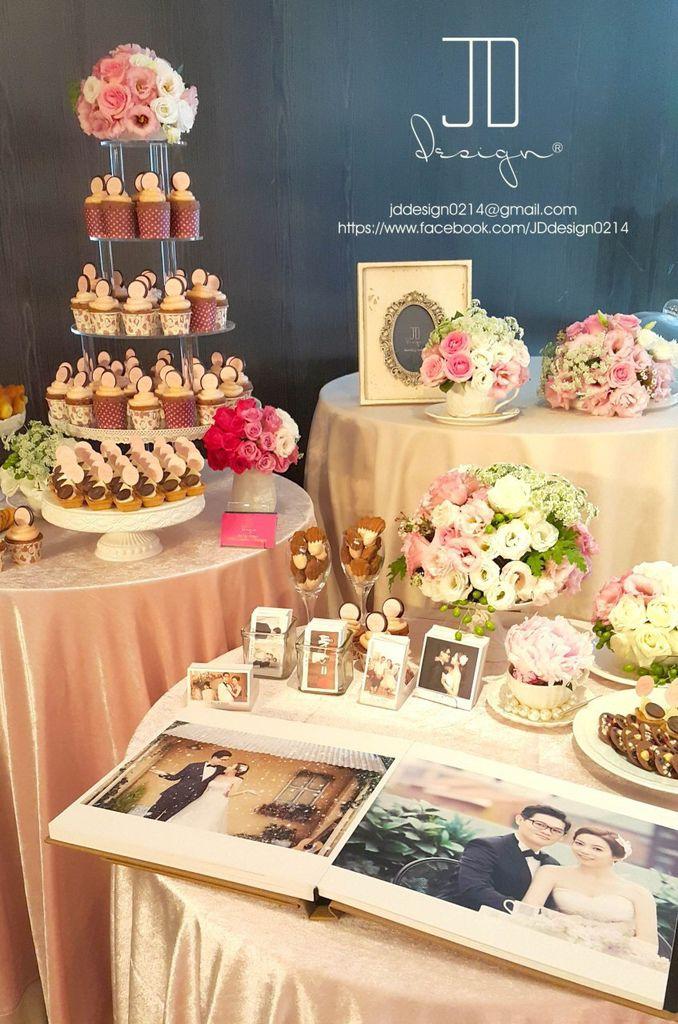 甜美氣質婚禮佈置JD Design 及甜點桌Candy Bar 好味生活Funeats  (42)