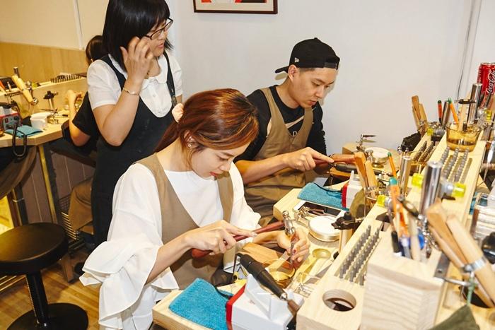 草山金工公園店 一日手作 敲敲打打金光閃閃湯匙DIY Grass Hill Jewelry KINJO CAFE慶祝咖啡店 (8)