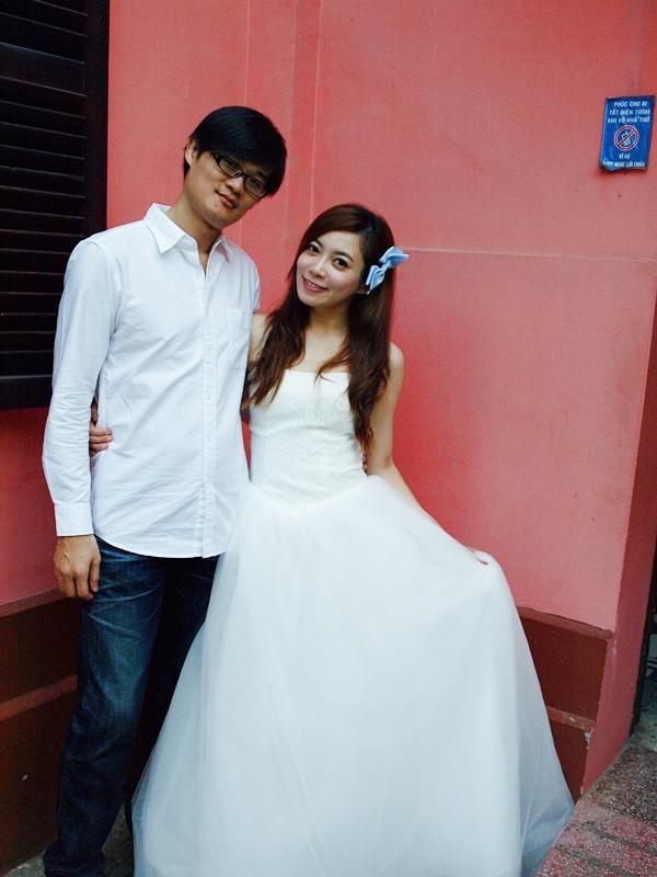自己拍婚紗-越南自助婚紗-胡志明市粉紅教堂新定教堂西貢耶穌聖心堂拍婚紗-淘寶婚紗 (138)