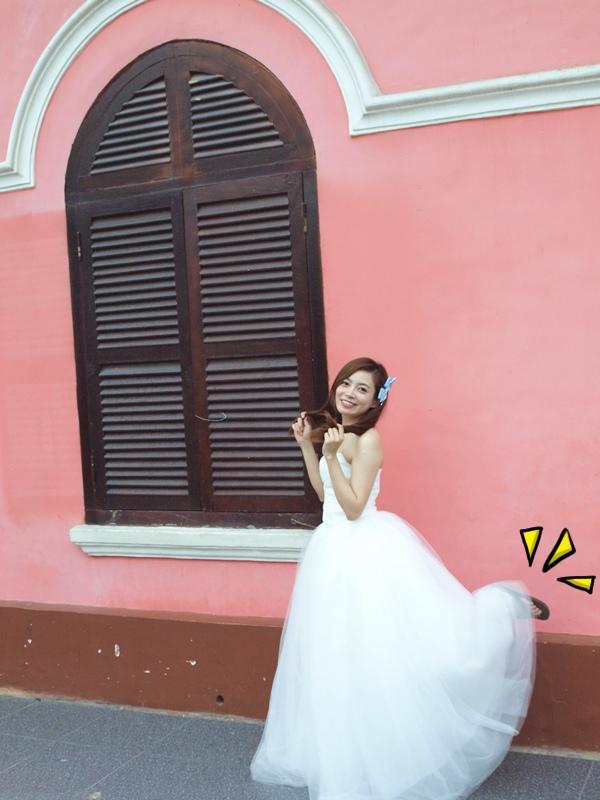 自己拍婚紗-越南自助婚紗-胡志明市粉紅教堂新定教堂西貢耶穌聖心堂拍婚紗-淘寶婚紗 (145)