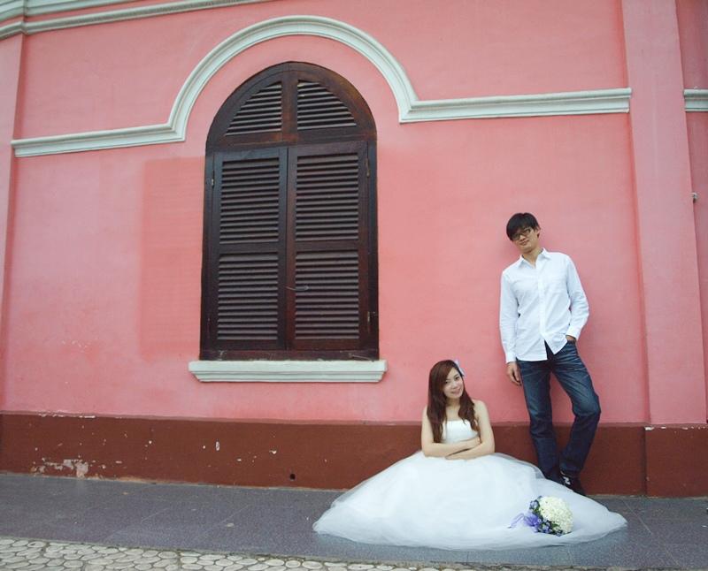 自己拍婚紗-越南自助婚紗-胡志明市粉紅教堂新定教堂西貢耶穌聖心堂拍婚紗-淘寶婚紗 (143)