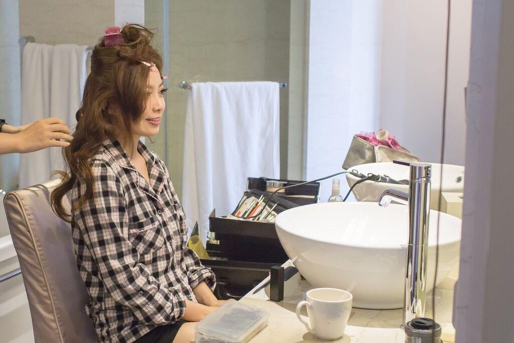 晶華夢幻婚禮Wedding 婚禮造型三套白紗婚紗禮服-攝影婚攝之玲-新秘Bona (9)
