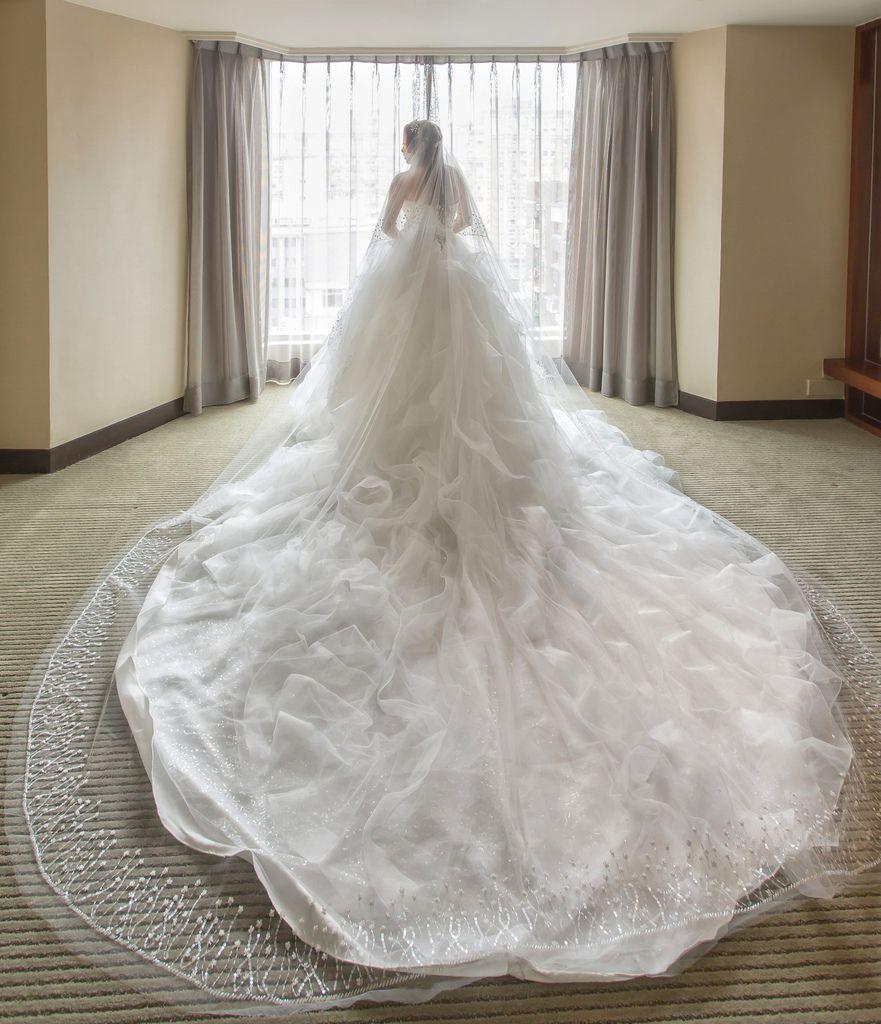 晶華夢幻婚禮Wedding 婚禮造型三套白紗婚紗禮服-攝影婚攝之玲-新秘Bona (42)
