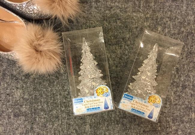 Daiso大創好物-LED發光聖誕樹-聖誕節裝飾品-水晶聖誕樹 (6)