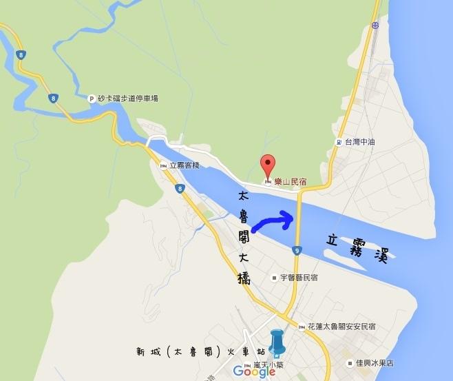 花蓮太魯閣-樂山民宿地圖