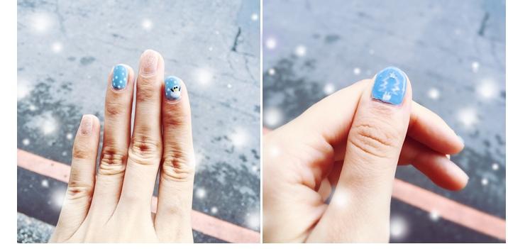 光療指甲DIY-12月的聖誕光療-銀色雪國耶誕 (3)