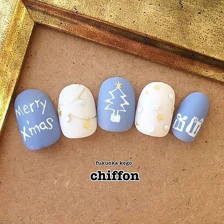 光療指甲DIY-12月的聖誕光療-銀色雪國耶誕 (4)