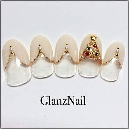 光療指甲DIY-12月的聖誕光療-銀色雪國耶誕 (12)
