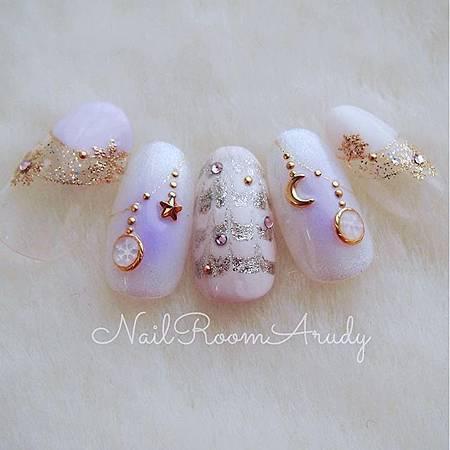 光療指甲DIY-12月的聖誕光療-銀色雪國耶誕 (8)