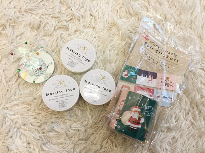 Daiso Japan大創好物-大創文具-聖誕節金銀紙膠帶Masking Tape貼紙 (24)