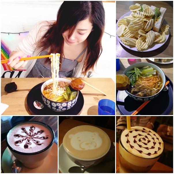 板橋新埔捷運美食-rainbows彩虹咖啡-咖啡拉花-牛辣麵 (900)