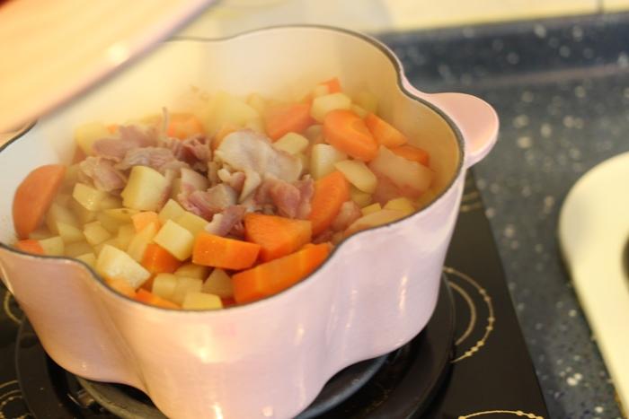 nitori宜得利小鐵鍋開鍋注意事項-15cm 19cm-開鍋料理-煎蛋-荷蘭鬆餅dutch baby (8)