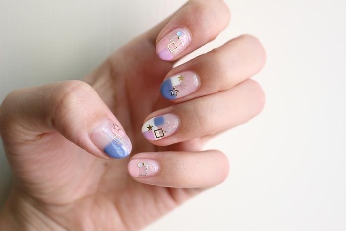 Midori nail 彌朵莉貓窩美甲室-光療美甲台北光療信義安和站-幾何光療凝膠指甲(75)