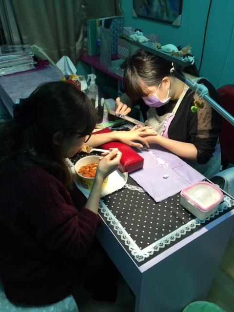 Midori nail 彌朵莉貓窩美甲室-光療美甲台北光療信義安和站-幾何光療凝膠指甲(95)