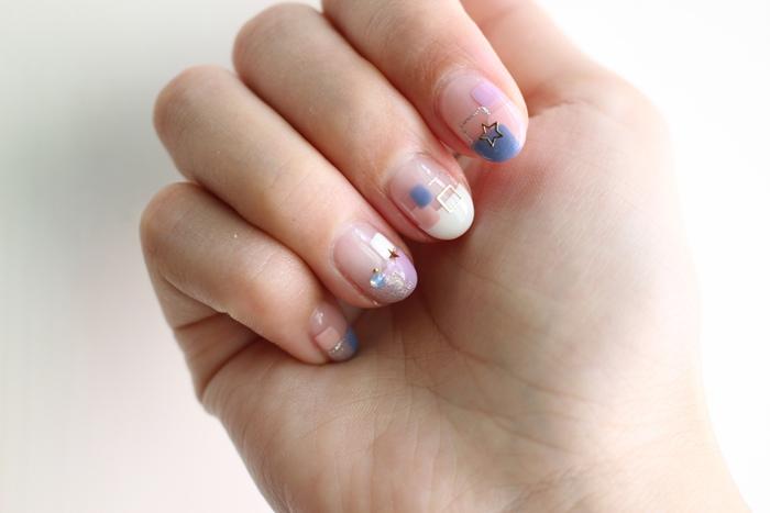 Midori nail 彌朵莉貓窩美甲室-光療美甲台北光療信義安和站-幾何光療凝膠指甲(80)