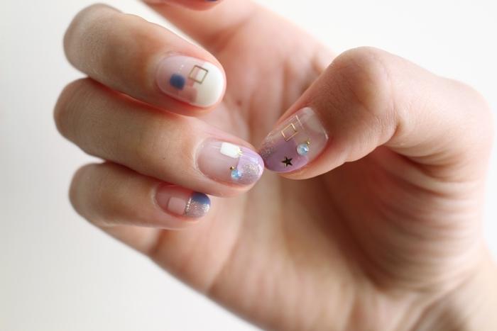 Midori nail 彌朵莉貓窩美甲室-光療美甲台北光療信義安和站-幾何光療凝膠指甲(83)