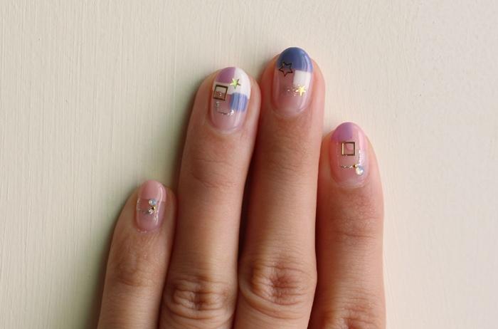 Midori nail 彌朵莉貓窩美甲室-光療美甲台北光療信義安和站-幾何光療凝膠指甲(74)