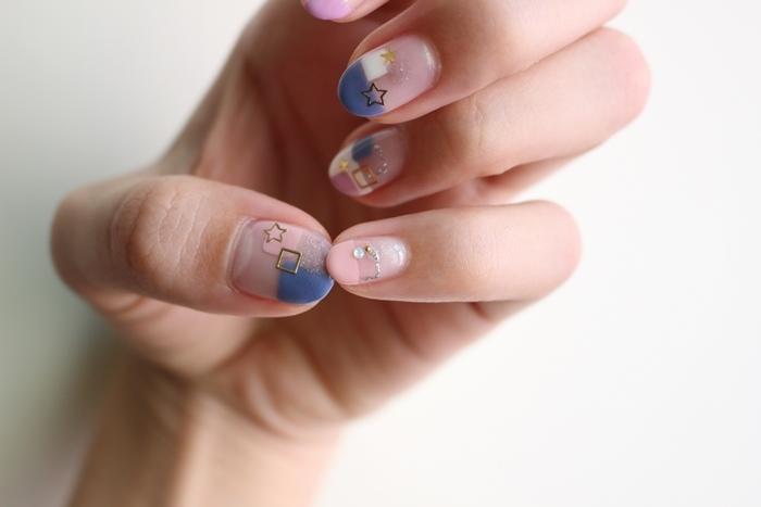 Midori nail 彌朵莉貓窩美甲室-光療美甲台北光療信義安和站-幾何光療凝膠指甲(76)