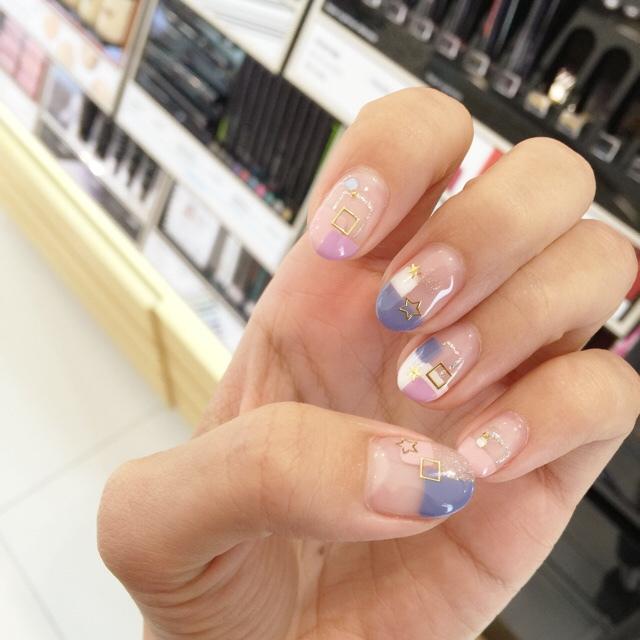 Midori nail 彌朵莉貓窩美甲室-光療美甲台北光療信義安和站-幾何光療凝膠指甲(104)