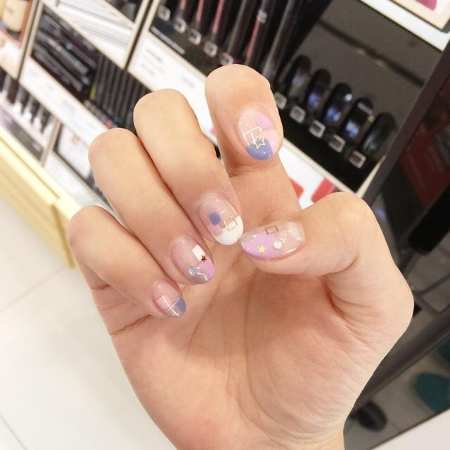 Midori nail 彌朵莉貓窩美甲室-光療美甲台北光療信義安和站-幾何光療凝膠指甲(105)