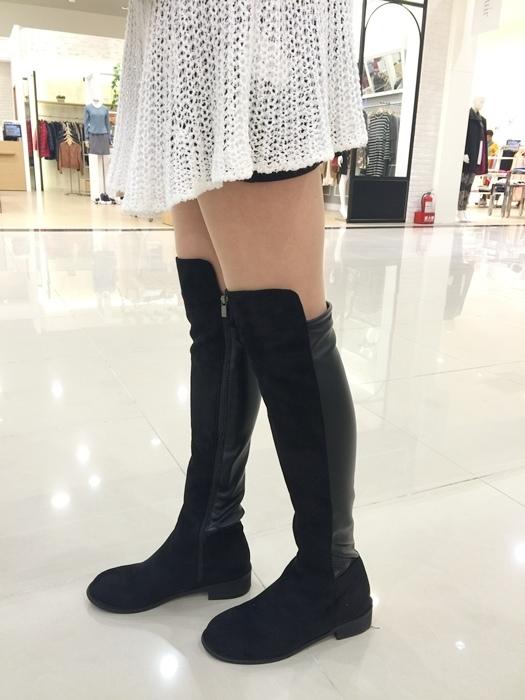 穿搭-日本東京戰利品御殿場outlet-snidel-ca4la貝蕾帽-拼接黑長靴-A&F (40)