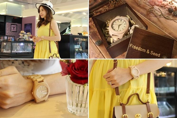 Freedom & Seed 木腕表-日本職人系列木頭手工錶-藝系列-加拿大楓木手錶-孕婦穿搭 (38)-tile