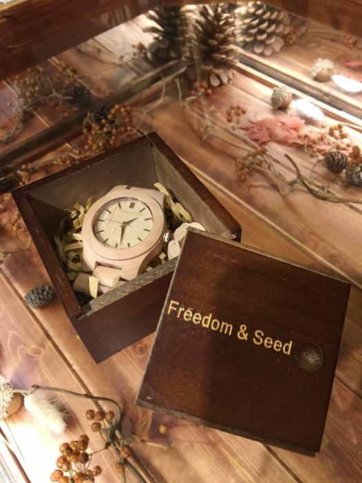 Freedom & Seed 木腕表-日本職人系列木頭手工錶-藝系列-加拿大楓木手錶-孕婦穿搭 (92)
