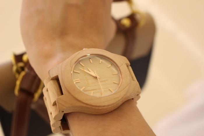 Freedom & Seed 木腕表-日本職人系列木頭手工錶-藝系列-加拿大楓木手錶-孕婦穿搭 (13)