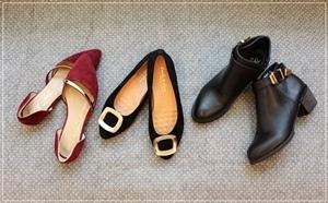 D+af特賣會平底鞋高跟鞋豆豆鞋短靴 (1)