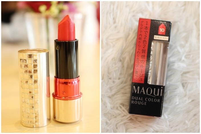 資生堂shiseido-雙色口紅雙色唇膏-水原希子代言-心機星魅雙色唇膏-maquillage 心機彩妝10周年 (1101)