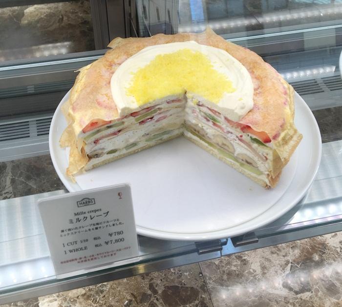 HARBS蛋糕甜點午間套餐義大利麵超划算 水果千層蛋糕 日本東京-銀座Hikarie百貨4樓 (80)