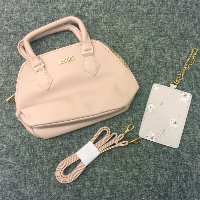 日雜贈品-Sweet 2016年9月號-snidel粉紅色手提肩背兩用小包+票卡夾 (14)