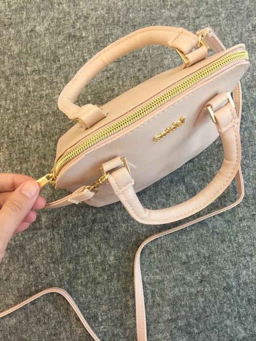 日雜贈品-Sweet 2016年9月號-snidel粉紅色手提肩背兩用小包+票卡夾 (10)