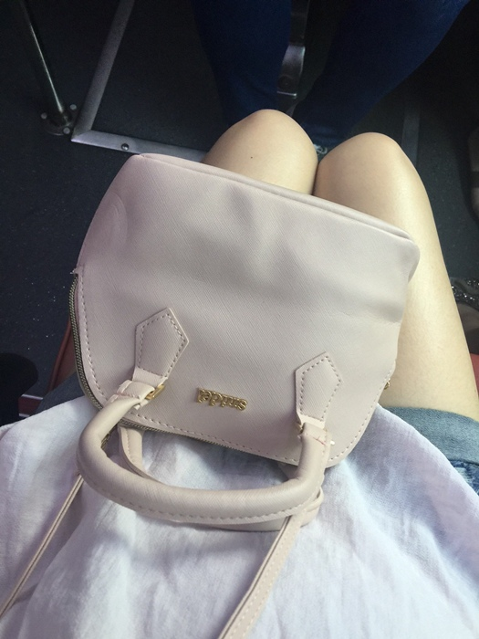 日雜贈品-Sweet 2016年9月號-snidel粉紅色手提肩背兩用小包+票卡夾 (12)