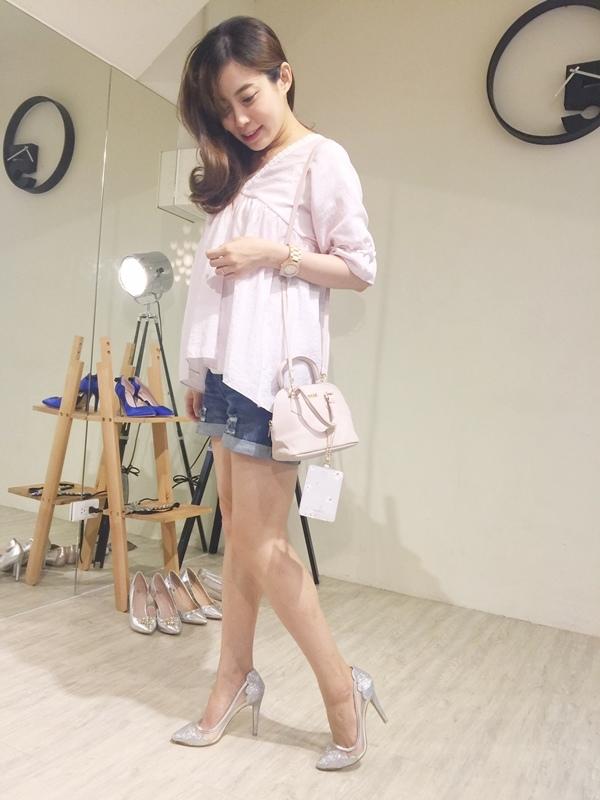 日雜贈品-Sweet 2016年9月號-snidel粉紅色手提肩背兩用小包+票卡夾 (1)