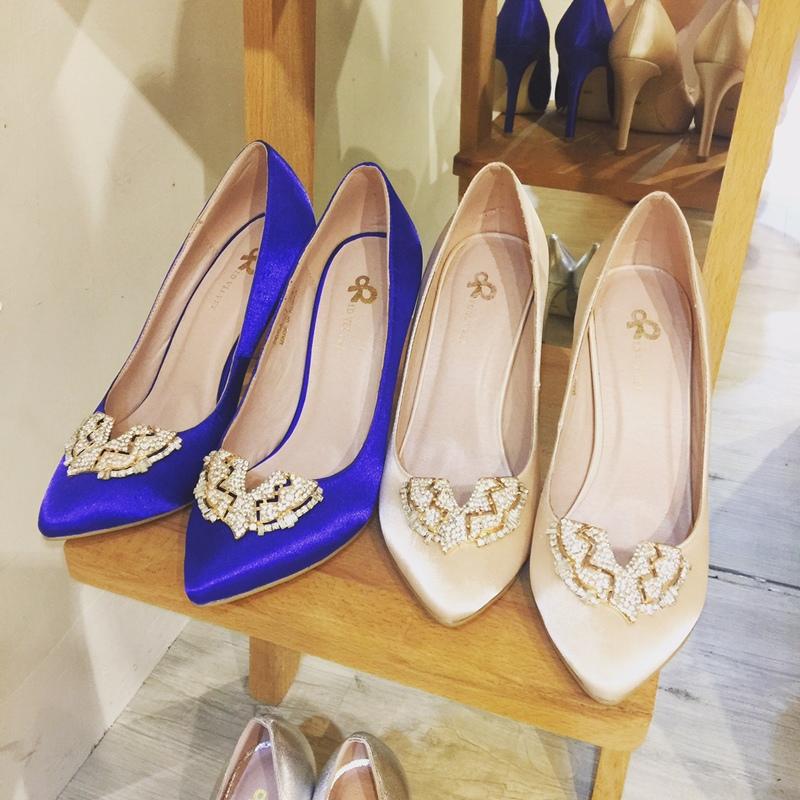 wedding shoes 婚鞋-訂婚鞋-設計師款-red velvet-華麗寶石平底鞋-低跟鞋 (18)