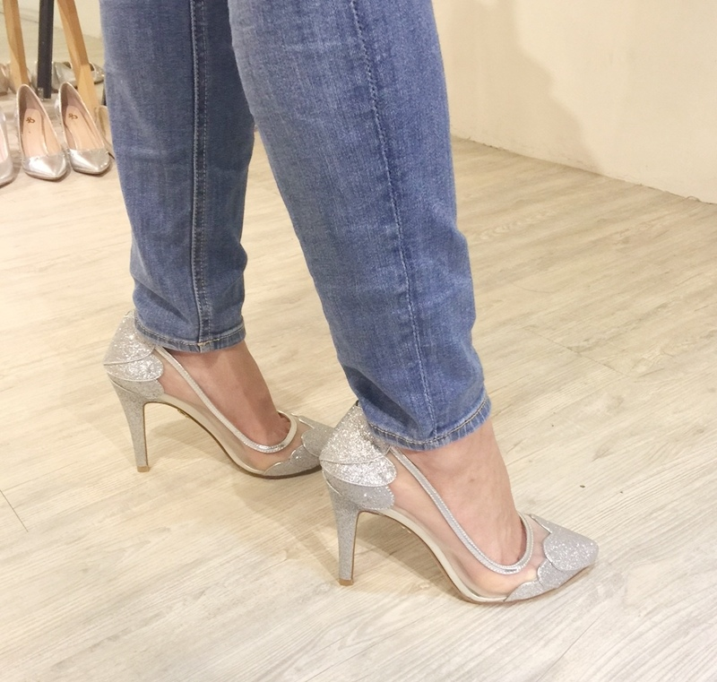 wedding shoes 婚鞋-訂婚鞋-設計師款-red velvet-華麗寶石平底鞋-低跟鞋 (4)
